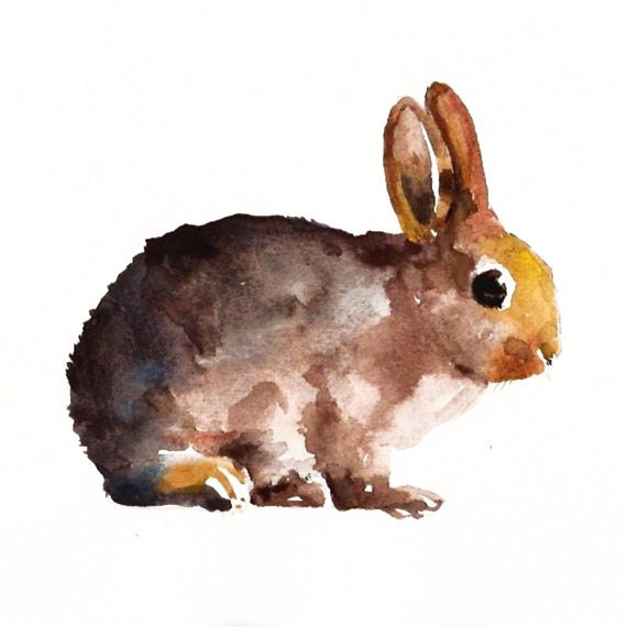 custom of your BUNNY by DIMDI Original watercolour painting 10X8inchxxxxAll the animals that you wantxxxx