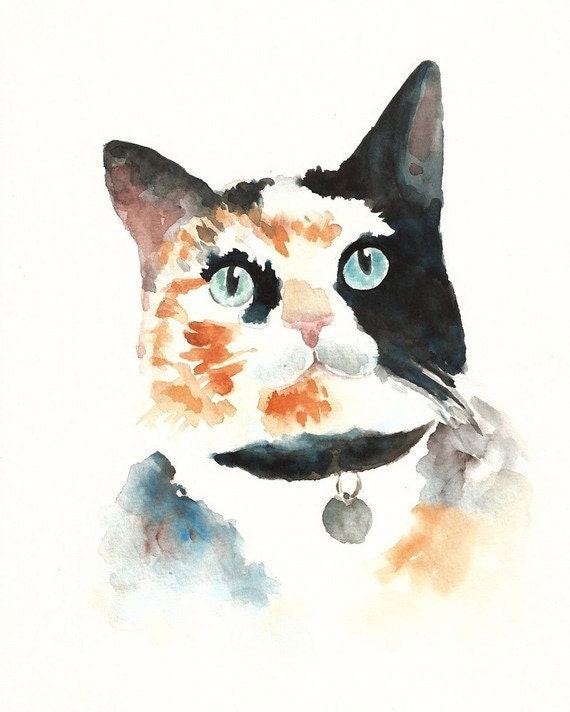 CUSTOM of your PET by DIMDI Original watercolor painting 8X10inchxxxxAll the animals that you wantxxxx