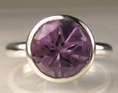 Star Cut Amethyst  Ring in Sterling - Made to Order