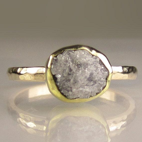 Rough Diamond Ring - 18k and 14k Gold