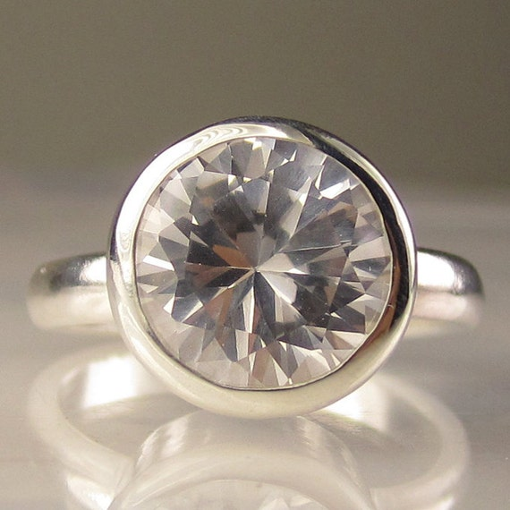 White Topaz Ring in Sterling