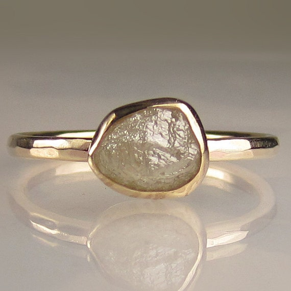 Rough Diamond Ring in 14k Gold