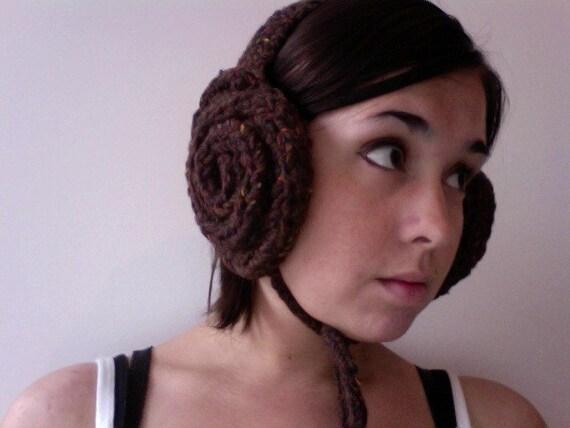 Knitted Leia Earmuffs