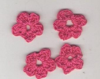 Tiny crocheted flowers