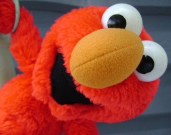 Vintage Elmo, Plush, Stuffed, Applause, Red,  Muppet, Sesame Street, Toy, Child, Security, Children, Television Character, Childhood Friend