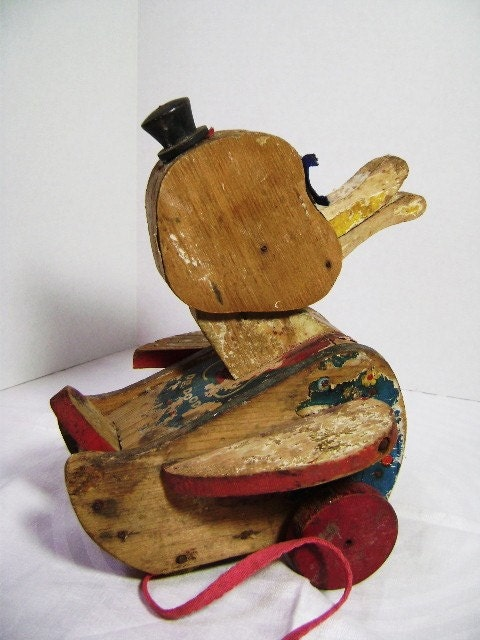 Dr Doodle Duck Pull Toy Precious 1950 S Fisher Price