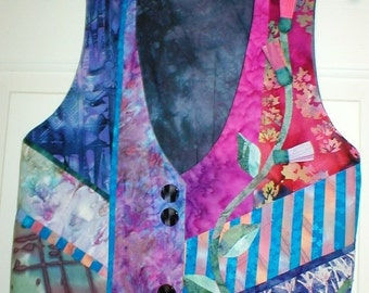Batik Sampler vest