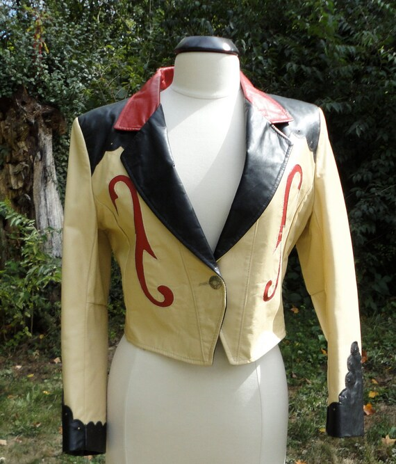 Vintage Genuine Leather Cowboy Woman Jacket 3 colors. Made in USA.