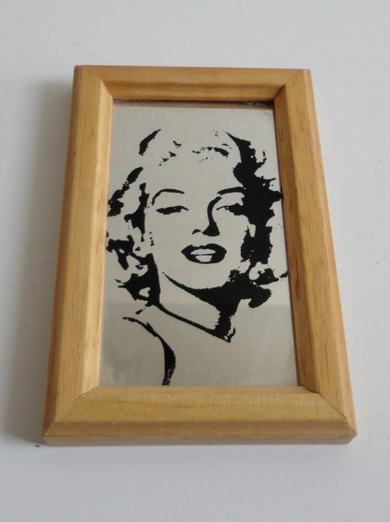 "1980's Marilyn Monroe 4"" mirror. Made in Italy. Pilm"