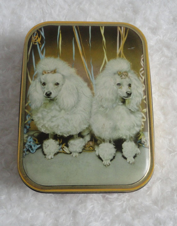 Poodle Tin Can. Made in England.