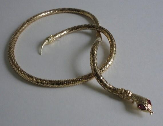 Gold Metal Snake Belt/Necklace