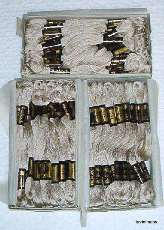 75 Skeins DMC Mouline Beige Cotton Embroidery Floss