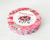 Bee on a flower Thank You Tags labels