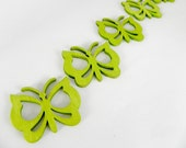 Green Butterflies wood embellishments - REDUCED