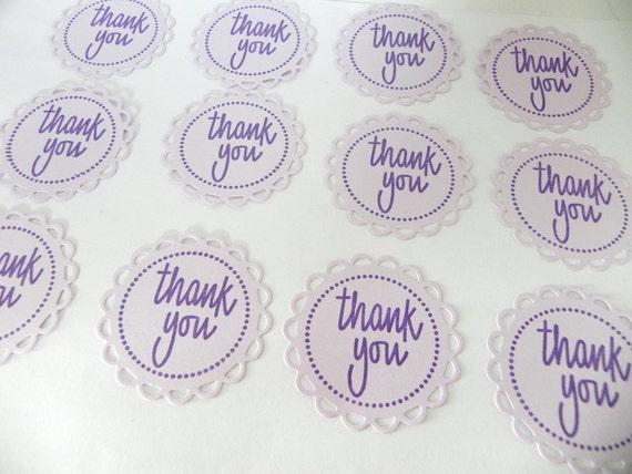 Fancy Circle Lavender Thank you Tags