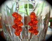 Red Swarovski Crystal Dangle Earrings