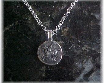 Pegasus Coin, Greek Ancient Coin Replica Pendant