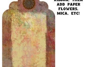 Milk Paint and Patina Tags - e-pattern  - Collage Sheet - PRINTABLES - Prim - Easy Download