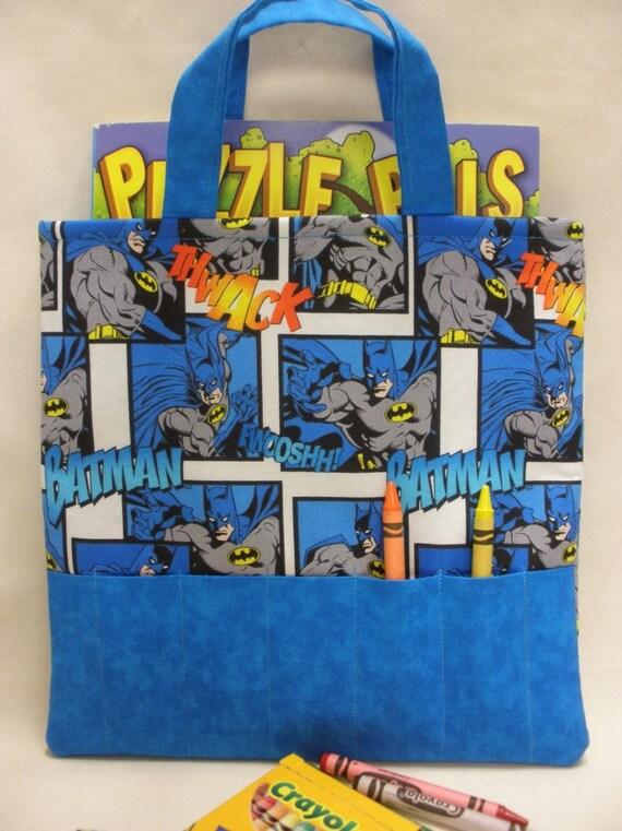 Batman Crayon Tote