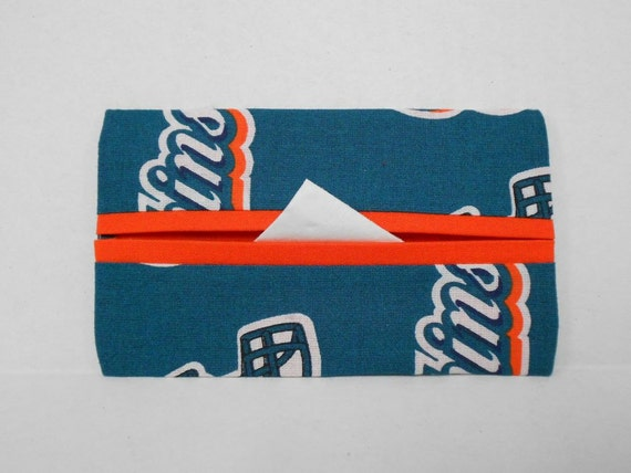 Miami Dolphins Tissue Cozy/Gift Card Holder/Party Favor/Wedding Favor