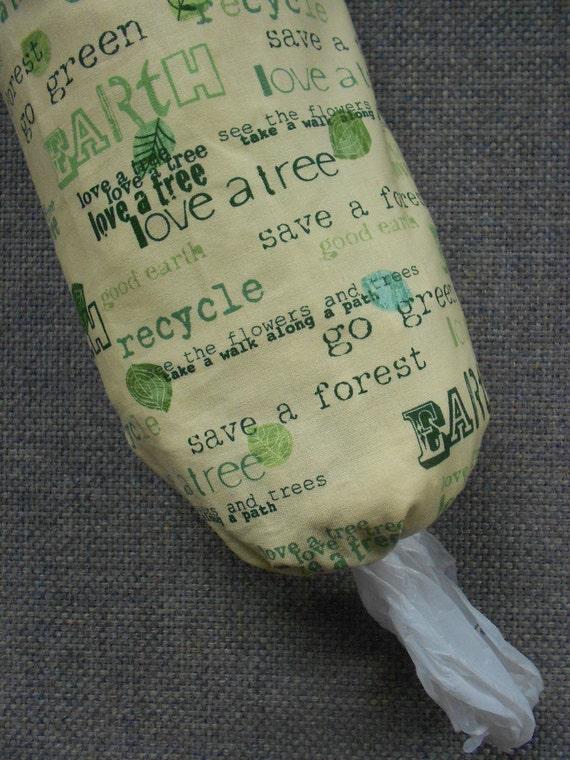 Earth Day Plastic Bag Dispenser