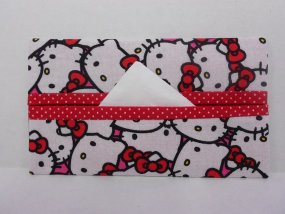 Hello Kitty Wedding Gift: Hello Kitty Tissue Cozy/Gift Card By NotWithoutAnnette On Etsy