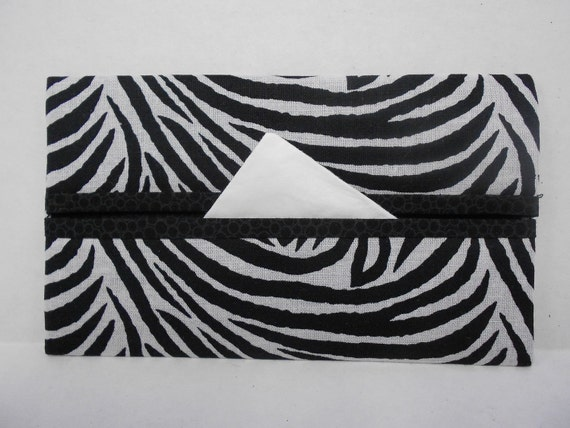 Zebra Stripes Tissue Cozy/Gift Card Holder