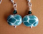 Petite Turquoise Giraffe Earrings - Kazuri Beads