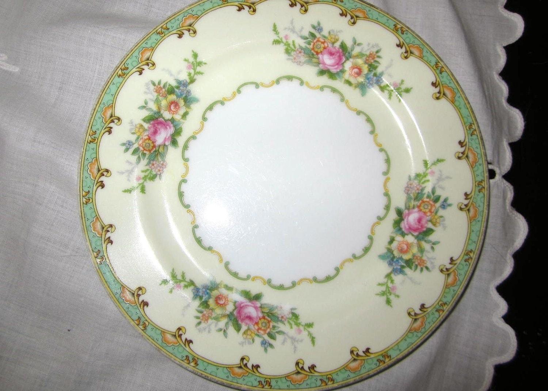 Vintage Noritake China Salad China Plate Esmond by redposie