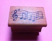 Vintage Music Score Rubber Stamp