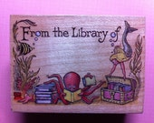 Vintage From the Library of Treasure Bookplate