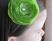 Kyleigh flower hair clip in green