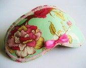 Pale Peony Sleep Mask Blindfold with Pink Mini bow