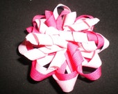 Light and Dark Fushia Pink Korker Twist Pinwheel Hair bow