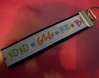Texting Teen  Key Fob  Key Ring Wristlet