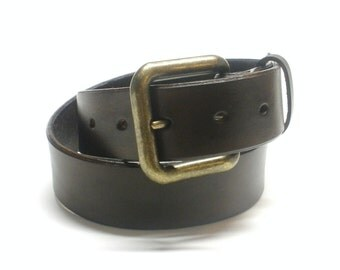 Dark Brown Leather Belt Handcrafted Men's Leather Belt Women's Leather Belt