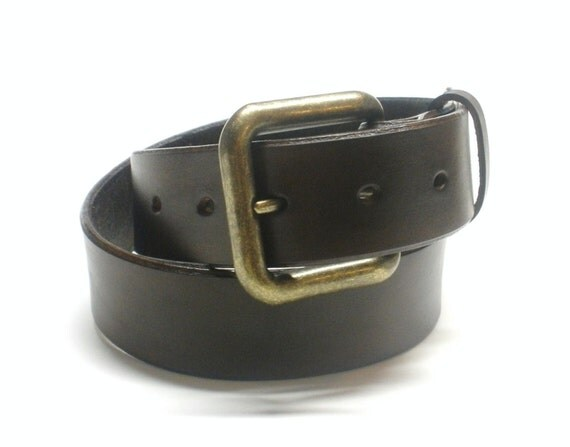 Dark Brown Leather Belt Handcrafted Men's Leather Belt Women's Leather Belt