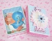 Handcrafted Valentine Game Box, Golf Theme