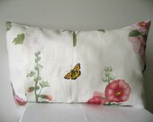 Hollyhock hand-printed pillow