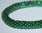 1 Dark Brigth Green Crochet Delica Beads
