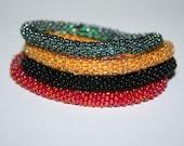 4 Crochet Delica Beads Bracelets