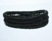 3 Black Crochet Delica Beads Bracelets