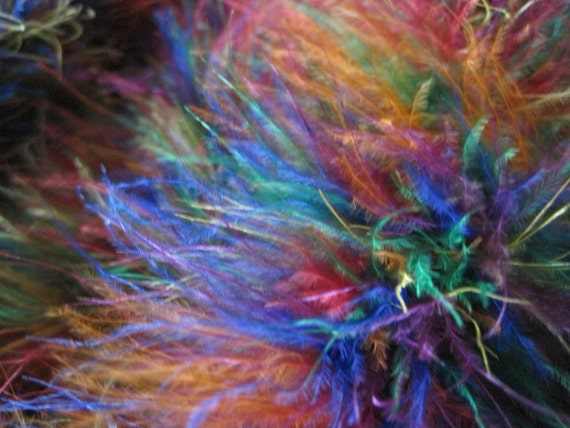 Multi-Color MARABOU Feather Boa --- CLEARANCE
