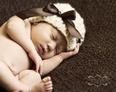 Brown and Ivory Newborn Photography Prop/Hat