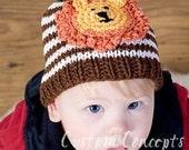 0-6 Month Gentle Lion Hat