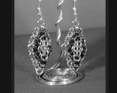 Dangle Chainmaille Earrings - Choose Your Own Colors
