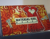 Material Girl Business Card Holder