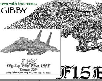 11x14 aircraft Personalized Sketches
