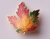 Vintage Fall Leaf Brooch