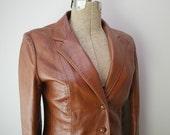 Vintage H Bar C Leather womens jacket size medium